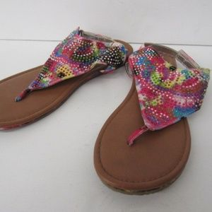 Multi-Colored JUSTICE Sandals Womens 9